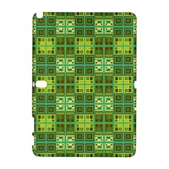 Mod Yellow Green Squares Pattern Samsung Galaxy Note 10 1 (p600) Hardshell Case
