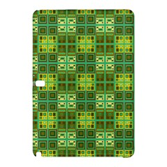 Mod Yellow Green Squares Pattern Samsung Galaxy Tab Pro 10 1 Hardshell Case