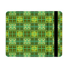 Mod Yellow Green Squares Pattern Samsung Galaxy Tab Pro 8 4  Flip Case
