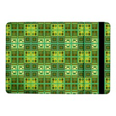Mod Yellow Green Squares Pattern Samsung Galaxy Tab Pro 10 1  Flip Case