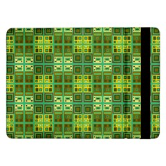 Mod Yellow Green Squares Pattern Samsung Galaxy Tab Pro 12 2  Flip Case