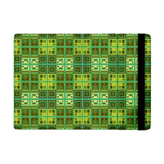 Mod Yellow Green Squares Pattern Ipad Mini 2 Flip Cases by BrightVibesDesign