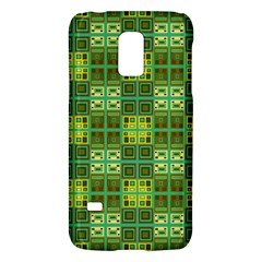 Mod Yellow Green Squares Pattern Samsung Galaxy S5 Mini Hardshell Case