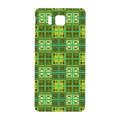 Mod Yellow Green Squares Pattern Samsung Galaxy Alpha Hardshell Back Case by BrightVibesDesign