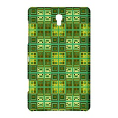Mod Yellow Green Squares Pattern Samsung Galaxy Tab S (8 4 ) Hardshell Case