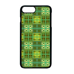 Mod Yellow Green Squares Pattern Apple Iphone 7 Plus Seamless Case (black)