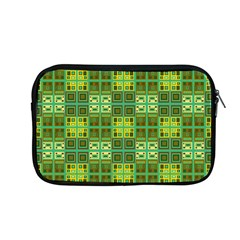 Mod Yellow Green Squares Pattern Apple Macbook Pro 13  Zipper Case
