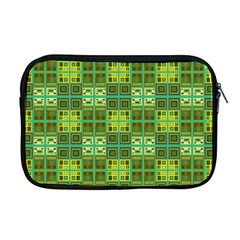 Mod Yellow Green Squares Pattern Apple Macbook Pro 17  Zipper Case