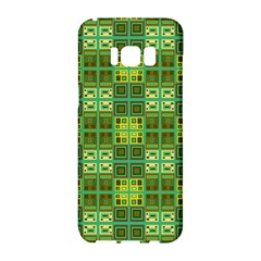 Mod Yellow Green Squares Pattern Samsung Galaxy S8 Hardshell Case