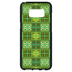 Mod Yellow Green Squares Pattern Samsung Galaxy S8 Black Seamless Case