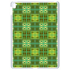 Mod Yellow Green Squares Pattern Apple Ipad Pro 9 7   White Seamless Case