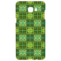Mod Yellow Green Squares Pattern Samsung C9 Pro Hardshell Case