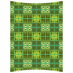 Mod Yellow Green Squares Pattern Back Support Cushion