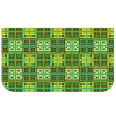 Mod Yellow Green Squares Pattern Lunch Bag