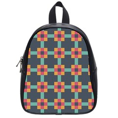 Abstract Background School Bag (small)