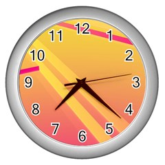 Abstract Art Background Beautiful Wall Clock (silver)