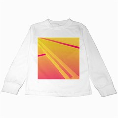 Abstract Art Background Beautiful Kids Long Sleeve T Shirts