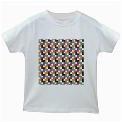Background Abstract Geometric Kids White T Shirts