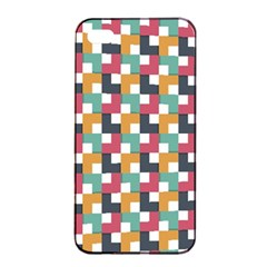 Background Abstract Geometric Apple Iphone 4/4s Seamless Case (black)