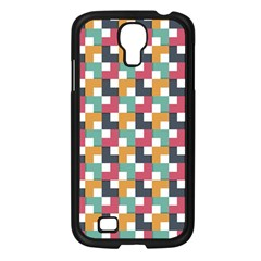 Background Abstract Geometric Samsung Galaxy S4 I9500/ I9505 Case (black)