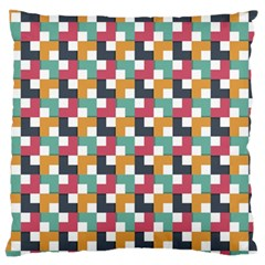 Background Abstract Geometric Large Flano Cushion Case (two Sides)