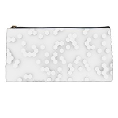 White Abstract Wall Paper Design Frame Pencil Cases