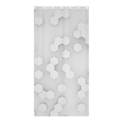 White Abstract Wall Paper Design Frame Shower Curtain 36  X 72  (stall)  by Simbadda
