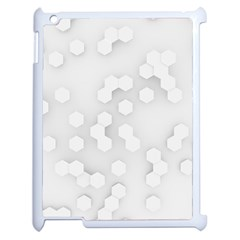 White Abstract Wall Paper Design Frame Apple Ipad 2 Case (white)
