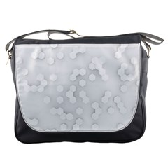 White Abstract Wall Paper Design Frame Messenger Bag by Simbadda
