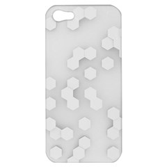 White Abstract Wall Paper Design Frame Apple Iphone 5 Hardshell Case by Simbadda