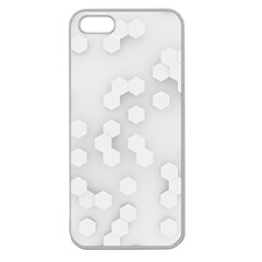 White Abstract Wall Paper Design Frame Apple Seamless Iphone 5 Case (clear)