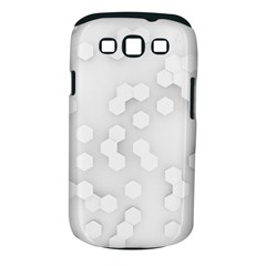 White Abstract Wall Paper Design Frame Samsung Galaxy S Iii Classic Hardshell Case (pc+silicone)