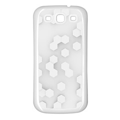 White Abstract Wall Paper Design Frame Samsung Galaxy S3 Back Case (white)