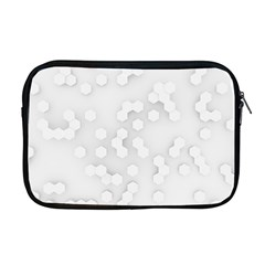 White Abstract Wall Paper Design Frame Apple Macbook Pro 17  Zipper Case
