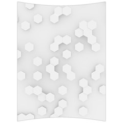 White Abstract Wall Paper Design Frame Back Support Cushion
