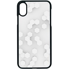 White Abstract Wall Paper Design Frame Apple Iphone X Seamless Case (black) by Simbadda
