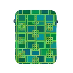 Green Abstract Geometric Apple Ipad 2/3/4 Protective Soft Cases by Simbadda