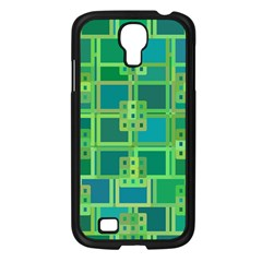 Green Abstract Geometric Samsung Galaxy S4 I9500/ I9505 Case (black)