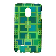 Green Abstract Geometric Samsung Galaxy Note Edge Hardshell Case by Simbadda