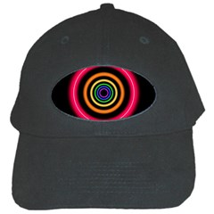 Neon Light Abstract Pattern Lines Black Cap