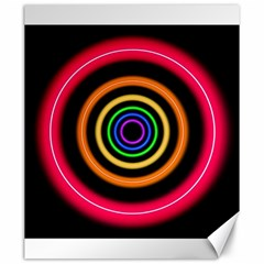 Neon Light Abstract Pattern Lines Canvas 20  X 24  by Simbadda