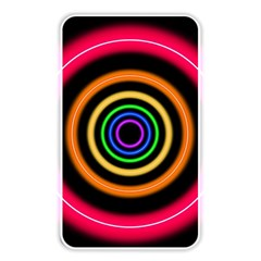 Neon Light Abstract Pattern Lines Memory Card Reader (rectangular)