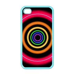 Neon Light Abstract Pattern Lines Apple Iphone 4 Case (color)