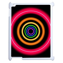 Neon Light Abstract Pattern Lines Apple Ipad 2 Case (white)