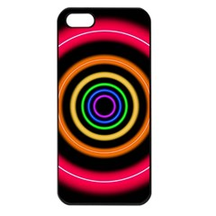 Neon Light Abstract Pattern Lines Apple Iphone 5 Seamless Case (black)