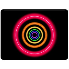 Neon Light Abstract Pattern Lines Double Sided Fleece Blanket (large)