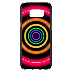 Neon Light Abstract Pattern Lines Samsung Galaxy S8 Plus Black Seamless Case