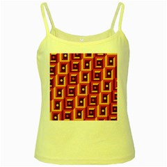 Abstract Background Yellow Spaghetti Tank