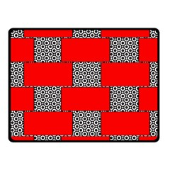 Black And White Red Patterns Fleece Blanket (small)