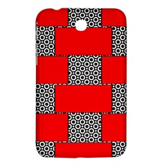 Black And White Red Patterns Samsung Galaxy Tab 3 (7 ) P3200 Hardshell Case